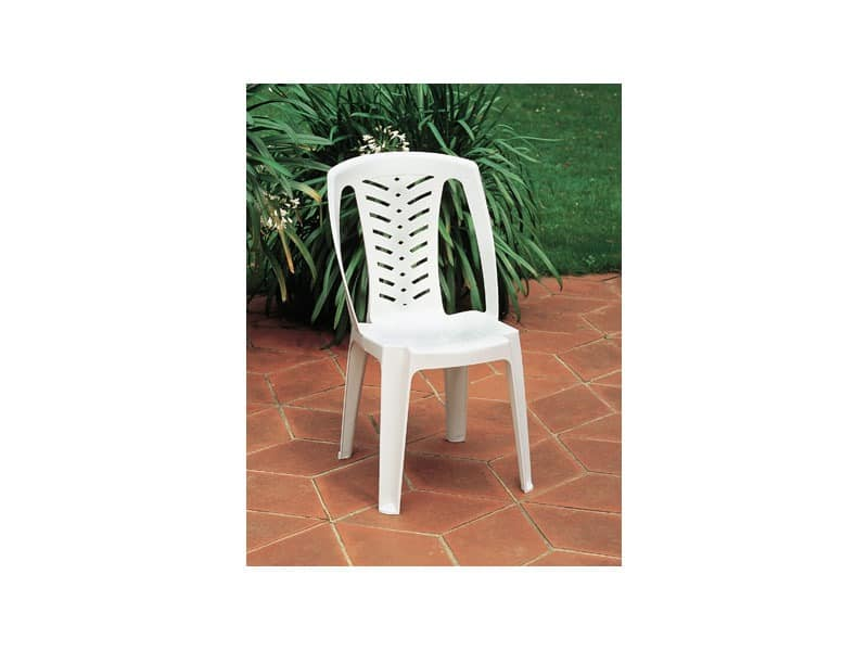 Corona, Plastikstuhl mit hoher Rückenlehne, für den Außeneinsatz