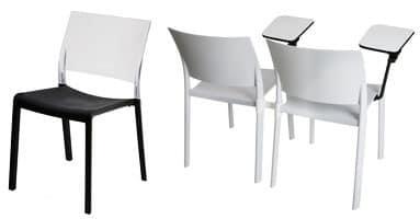 Fiona - S, Stuhl komplett aus Kunststoff, resistent gegen Sonne