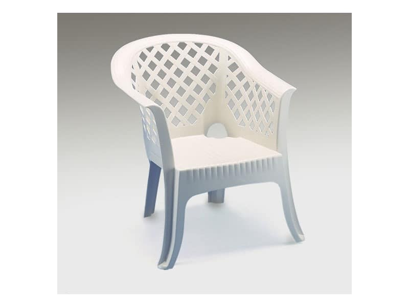 Lario, Kunststoff-Sessel mit Armlehnen, für den Außeneinsatz