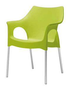 Olga, Stuhl für Gärten und Bars im Freien