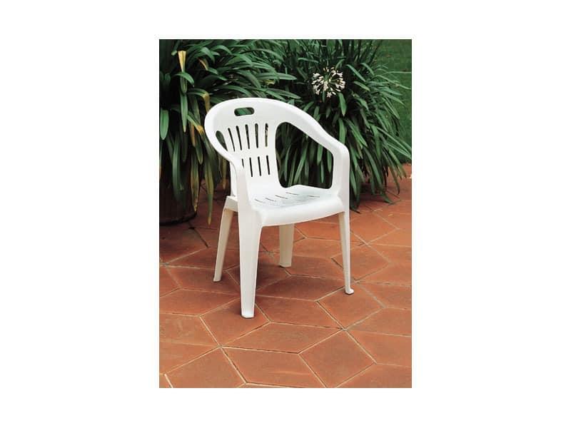 Piona, Stapelstuhl aus Kunststoff, für Gärten