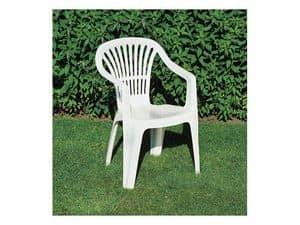Scilla, Kunststoff-Stuhl mit Armlehnen für den Garten