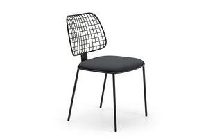 Summer set Stuhl, Stahlstange Stuhl, gepolsterter Sitz, für Bars und Terrassen
