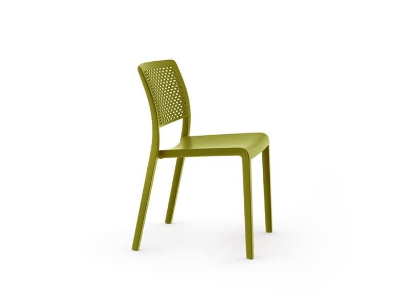 Tara - S, Kunststoff-Stapelstuhl ohne Armlehnen, für den Außenbereich