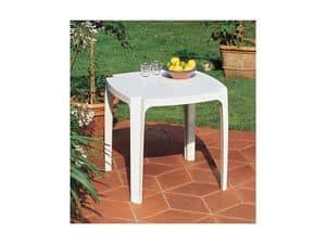 Tavolo 75x75, Tabelle aus Harz, für Gärten gemacht