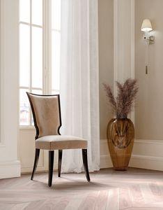ART. 3438, Eleganter Esszimmerstuhl aus Samt