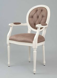 BS100A - Stuhl, Medaillonstuhl mit Rückenlehne