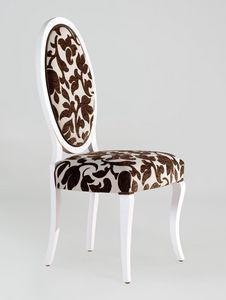 BS213S - Stuhl, Medaillonstuhl mit Rückenlehne