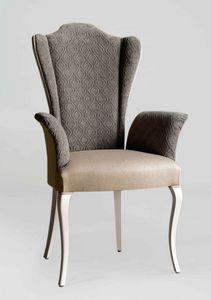 BS420A - Stuhl, Stuhl mit Armlehnen und hohem Rücken