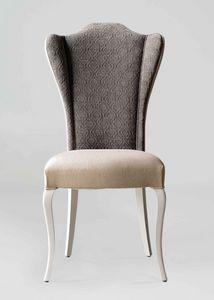 BS420S - Stuhl, Gepolsterter Stuhl mit hoher Rückenlehne