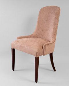 BS430S - Stuhl, Gepolsterter Stuhl mit hoher Rückenlehne