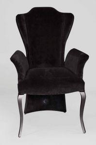 BS431A - Stuhl, Samtstuhl mit hoher Rückenlehne