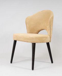 BS490S - Stuhl, Stuhl mit Öko-Nabuk-Bezug