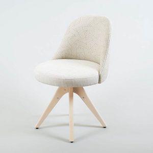 BS560S - Stuhl, Gepolsterter Stuhl mit Bockfuß