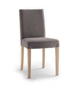 C03B, Gepolsterter Stuhl, Holzbeine