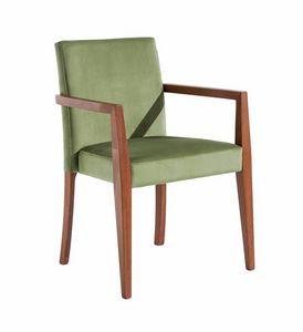 C03BPSTK, Stapelbarer Stuhl mit Armlehnen