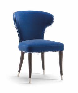 CAMELIA SIDE CHAIR 051 S, Stuhl mit abgerundeter Rückenlehne