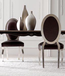 Chantal Art. 674 - 645, Esszimmerstuhl mit ovaler Rückenlehne