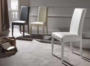 Cream, Bequemer gefüllter Stuhl für Esszimmer