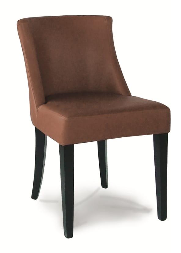 DALLAS S, Gepolsterter Stuhl mit lackierter Holzstruktur
