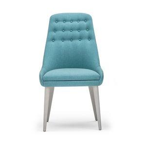Danielle 03611K, Stuhl mit geknöpfter hoher Rückenlehne