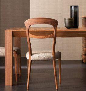 Elettra Art. EL143, Stuhl aus Walnussholz mit gepolstertem Sitz