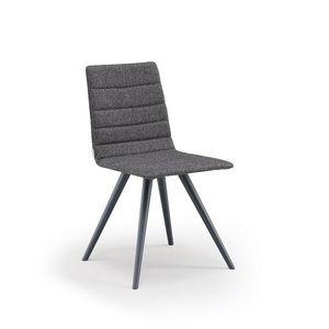 Firenze-W, Gepolsterter Stuhl mit Holzbeinen