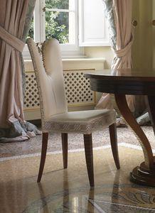 Grand Etoile Art. GE042/AR, Esszimmerstuhl mit eleganter geschnitzter Dekoration