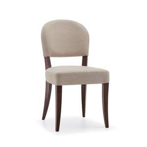 ISLANDA S1, Gepolsterter Stuhl mit Holzbeinen