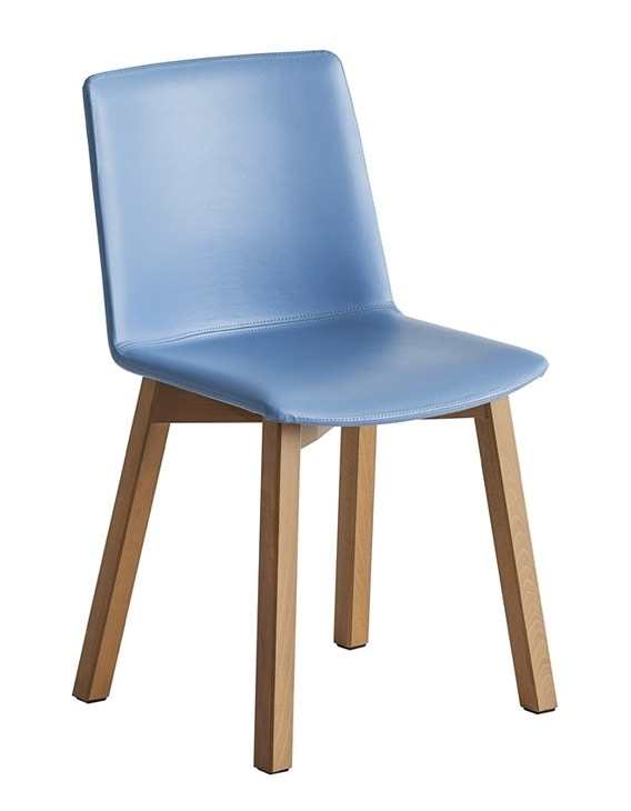 Jubel BL, Stuhl mit Buchenholzstruktur