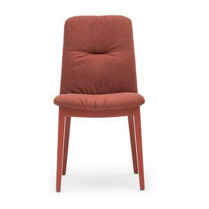 Light 03212, Holzstuhl mit gepolstertem Sitz und Rücken