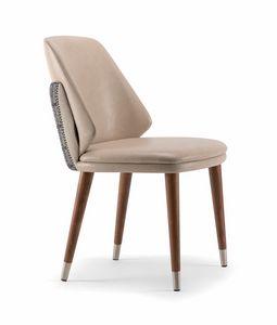 MEG SIDE CHAIR 071 PO, Stuhl mit Drachenrückenlehne