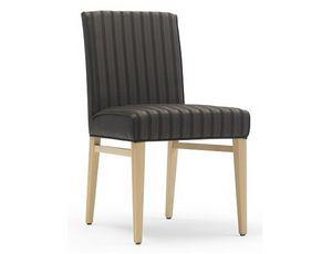 Milena-S1, Gepolsterter Stuhl mit niedriger Rückenlehne