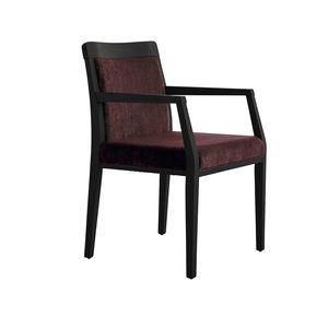 MP49EP, Bequemer gepolsterter Stuhl, mit Holzfuß