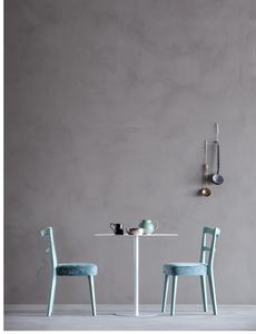 NORVEGIA, Stuhl mit Rückenlehne mit horizontalen Lamellen
