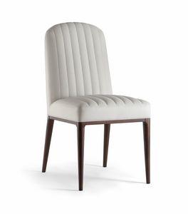 PARIGI SIDE CHAIR 038 S, Stuhl mit sichtbaren Nähten