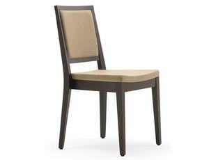 Saba-SI, Moderner stapelbarer Stuhl aus Holz