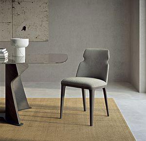 SE60 Shape Stuhl, Gepolsterter Esszimmerstuhl