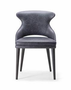WINGS SIDE CHAIR 076 S, Stuhl mit einem raffinierten und zeitgemäßen Design