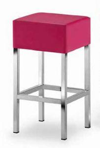 Cube-T, Gepolsterter Hocker mit quadratischem Sitz