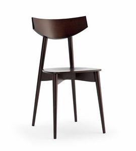 DAYANA Holz, Stuhl mit Sperrholz Sitz, für Küche und Bar