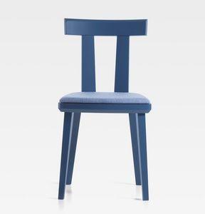 Milano, Stuhl aus Naturholz oder gebeiztem Holz