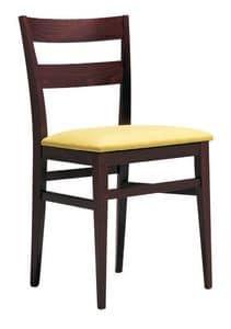 SE 47 / B, Holzstuhl mit gepolstertem Sitz, für Hotels