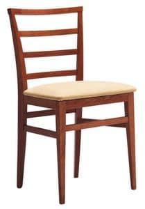 SE 47 / D, Stuhl aus lackiertem Holz, Rücken mit horizontalen Lamellen