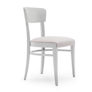 Steffy 00412, Stuhl aus Massivholz, Sitz und Rücken gepolstert, für Vertrags-und Wohnbereich