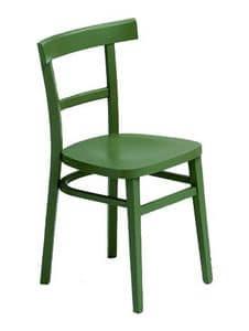 229 B, Lackierte Stuhl aus Buchenholz
