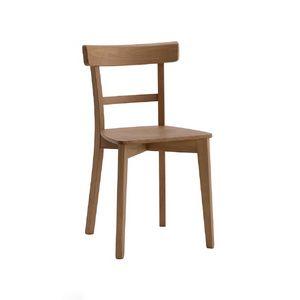 370, Holzstuhl mit einfachem Design
