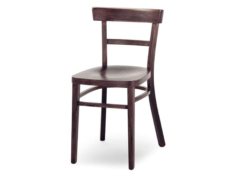 A4, Holzstuhl ohne Armlehnen, für Bars und Restaurants