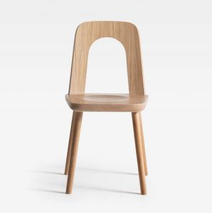 Arco, Holzstuhl mit dynamischer Form