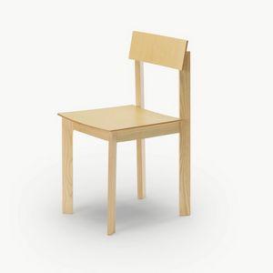 Candid, Holzstuhl mit raffiniertem Design